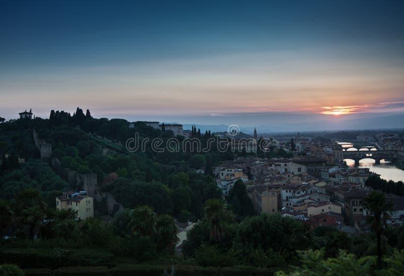 Tramonto a Firenze fotografie stock libere da diritti