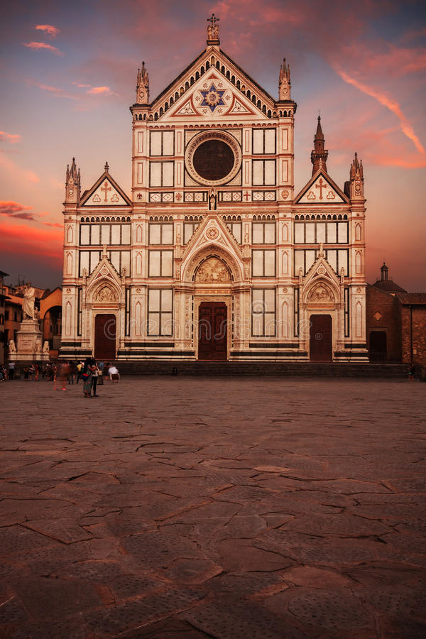 Tramonto a Firenze immagine stock