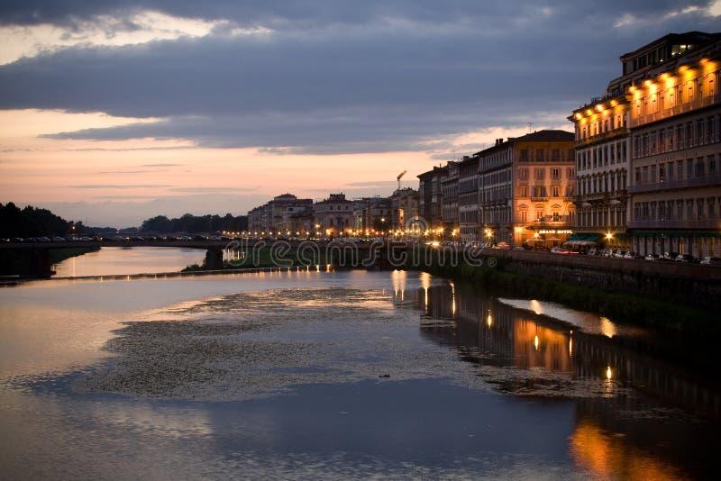 Tramonto a Firenze, Italia fotografie stock libere da diritti