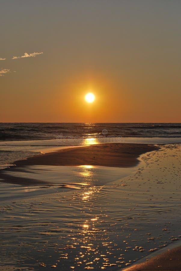 Tramonto Florida Pan Handle della spiaggia immagini stock libere da diritti