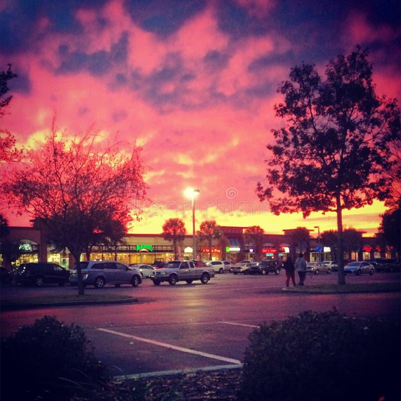 Tramonto a Gainesville, FL fotografia stock