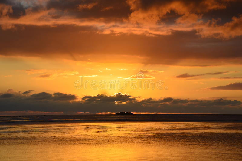 Tramonto Guam immagine stock