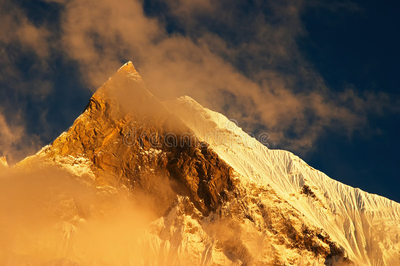 Tramonto in Himalaya fotografia stock