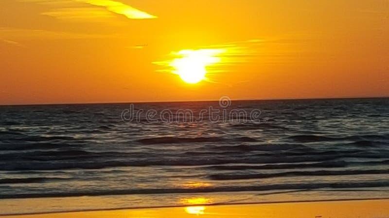 Tramonto il Belucistan della spiaggia di Gwadar fotografia stock