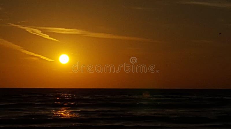 Tramonto il Belucistan della spiaggia di Gwadar immagine stock