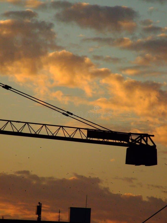 Tramonto industriale fotografie stock libere da diritti