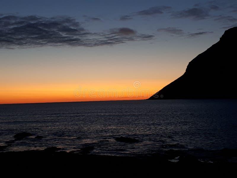 Tramonto Islanda fotografia stock libera da diritti