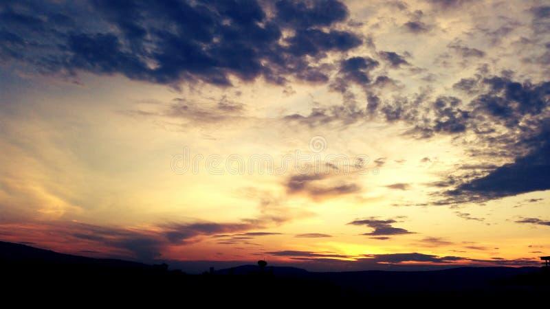 Tramonto Kigali fotografie stock libere da diritti