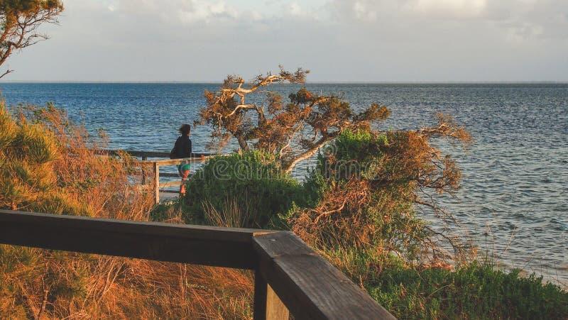 Tramonto a Len Howard Conservation Park vicino a Mandurah, Australia occidentale fotografia stock libera da diritti