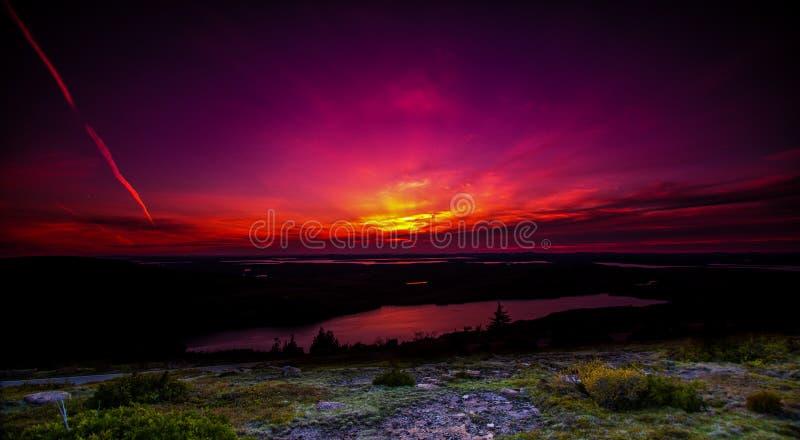 Tramonto in Maine immagini stock libere da diritti
