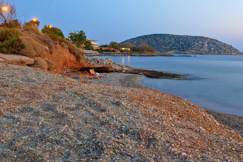 Tramonto mediterraneo fotografie stock