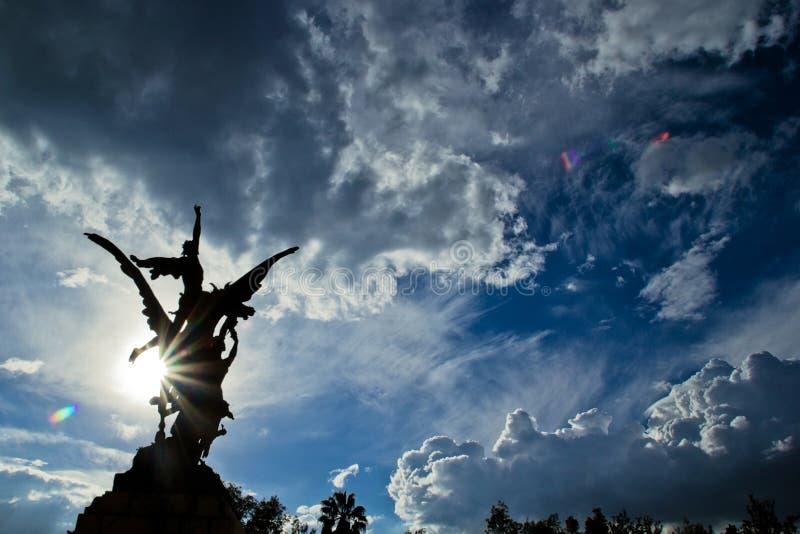Tramonto a Messico City fotografie stock