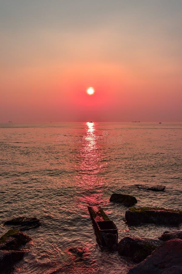 Tramonto nel Giappone fotografia stock libera da diritti
