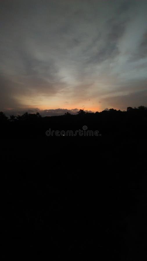 Tramonto nel Kerala immagine stock libera da diritti