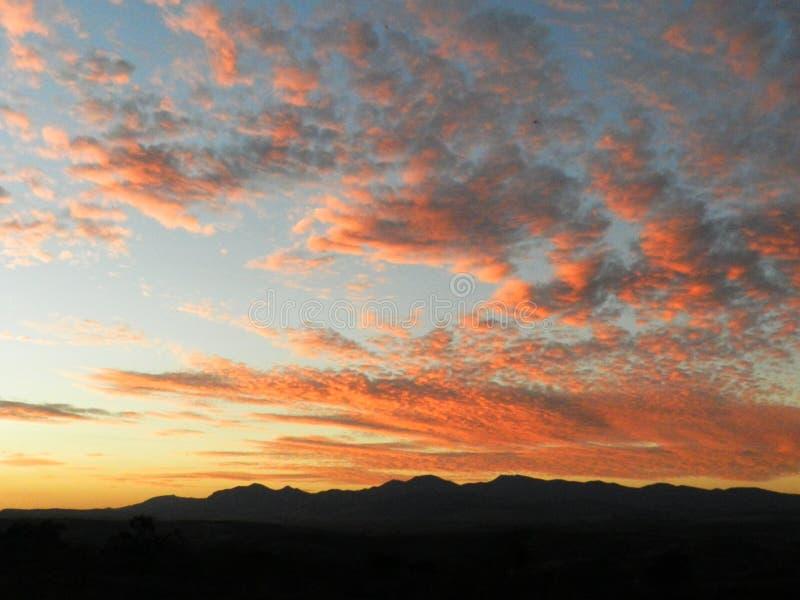 Tramonto nel Messico fotografia stock libera da diritti