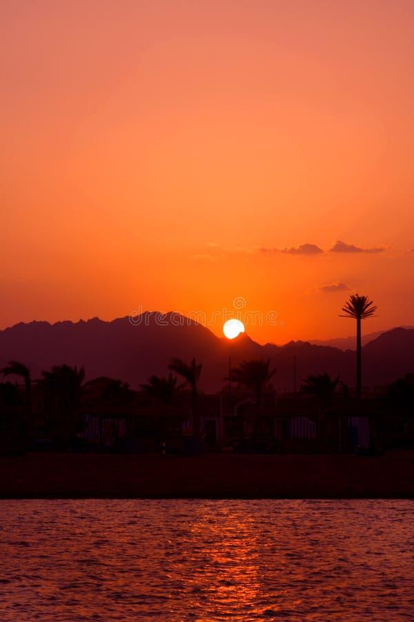 Tramonto nell'Egitto fotografia stock