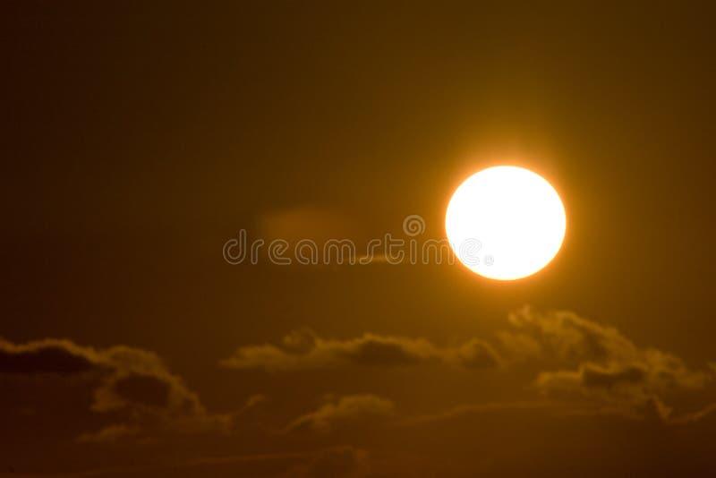 Tramonto in nubi fotografia stock