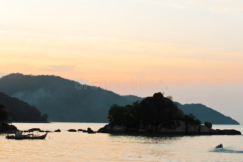 Tramonto a Penang fotografia stock libera da diritti