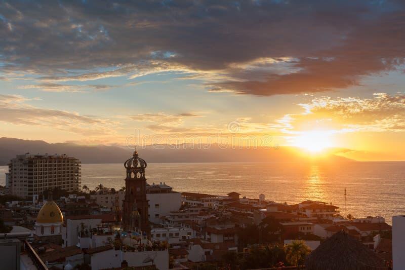 Tramonto in Puerto Vallarta immagine stock