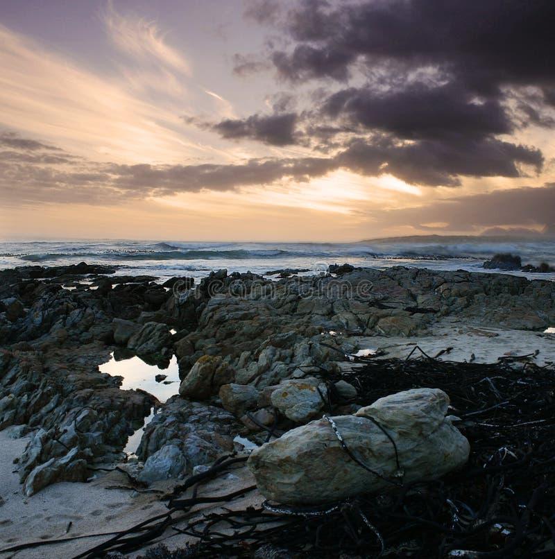 Tramonto roccioso fotografie stock libere da diritti