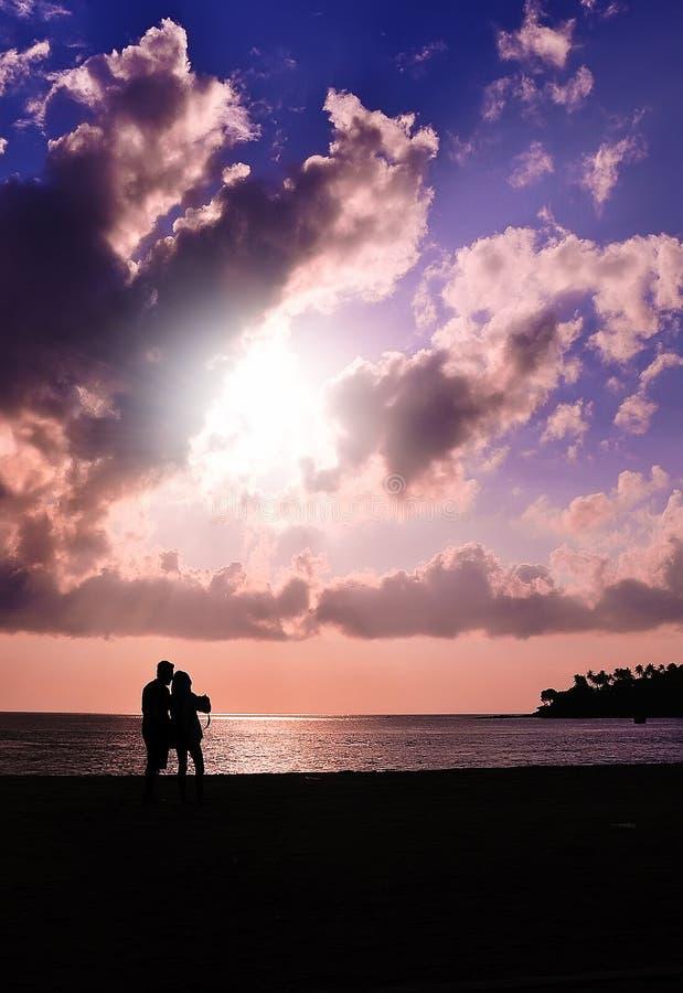 Tramonto romantico fotografia stock libera da diritti