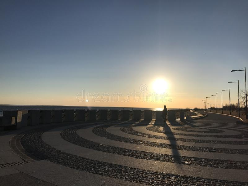 Tramonto in San Pietroburgo fotografie stock