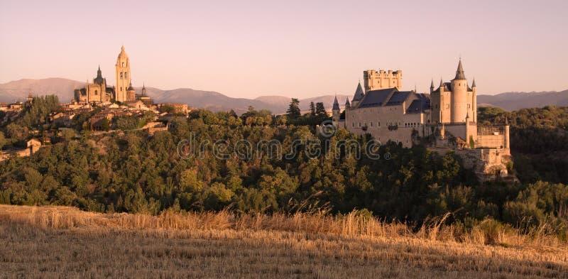 Tramonto a Segovia immagine stock libera da diritti