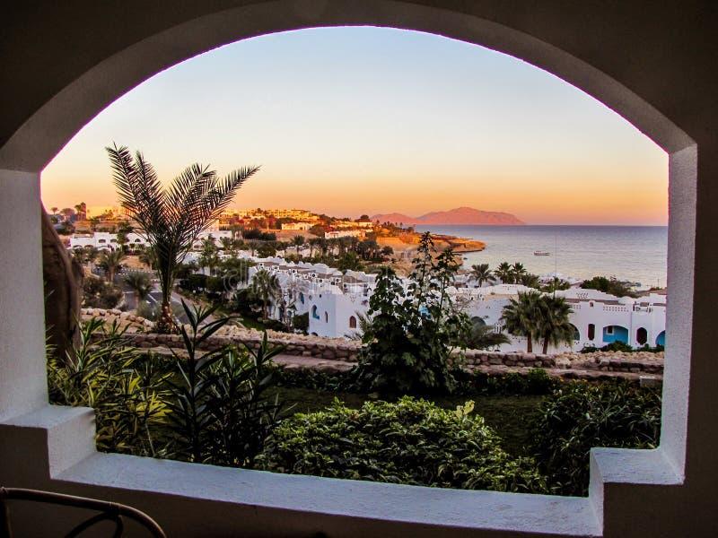 Tramonto in Sharm el-Sheikh, Egitto immagine stock libera da diritti