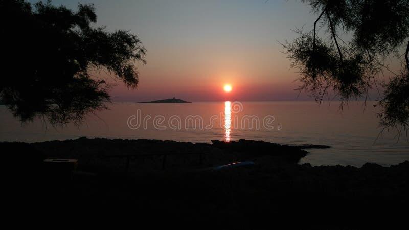Tramonto Siciliano photographie stock libre de droits