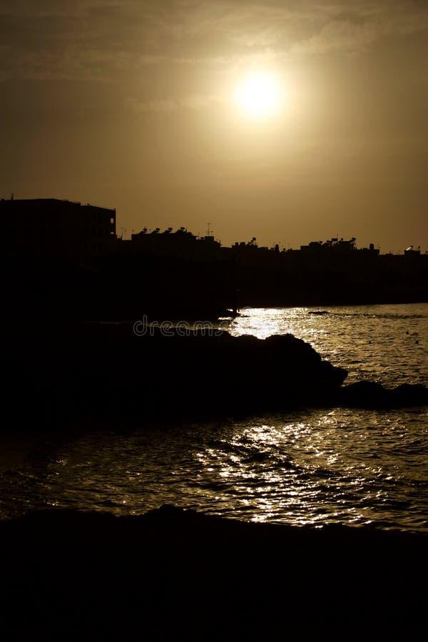 Tramonto Sopra Crete Fotografia Stock Libera da Diritti