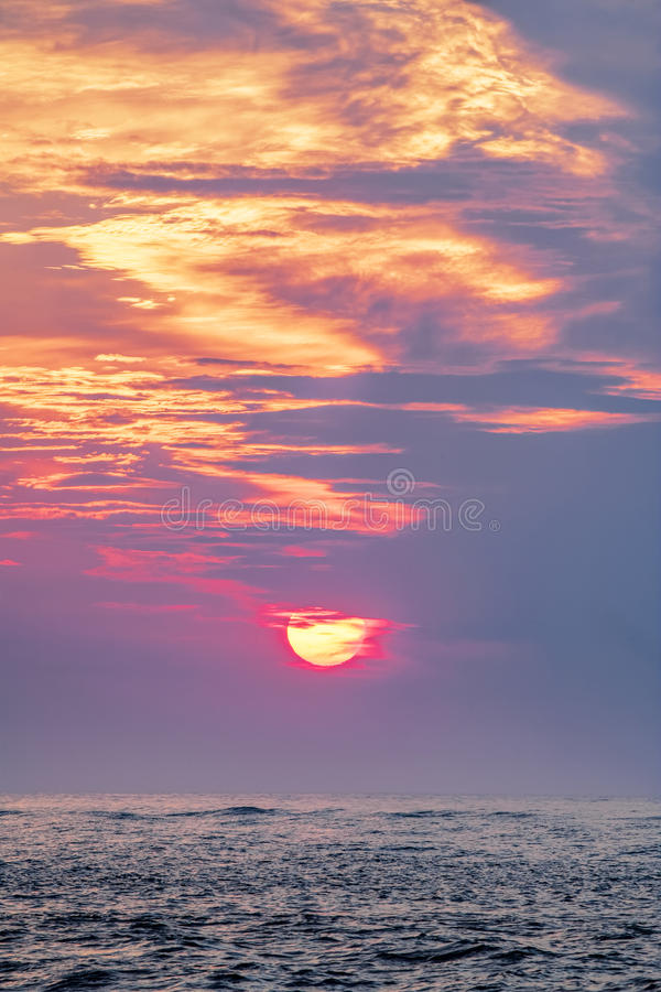 Tramonto sopra il golfo del Messico, Clearwater, Florida U.S.A. fotografia stock libera da diritti