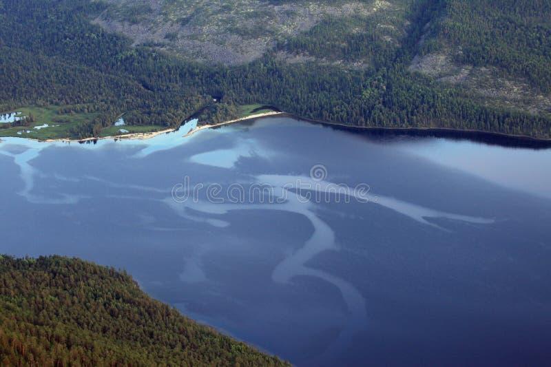 Tramonto sopra il lago Baikal immagine stock libera da diritti