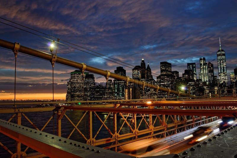 Tramonto sopra Manhattan immagini stock libere da diritti