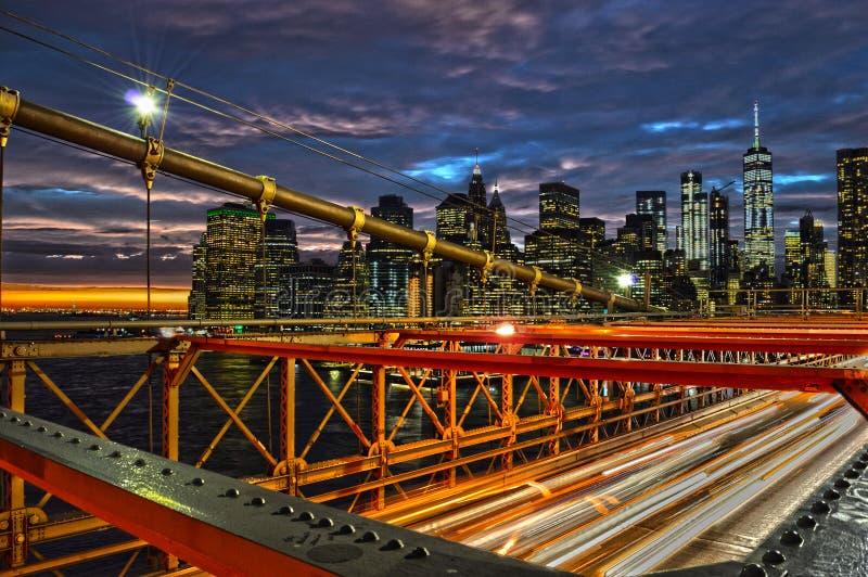Tramonto sopra Manhattan fotografia stock libera da diritti