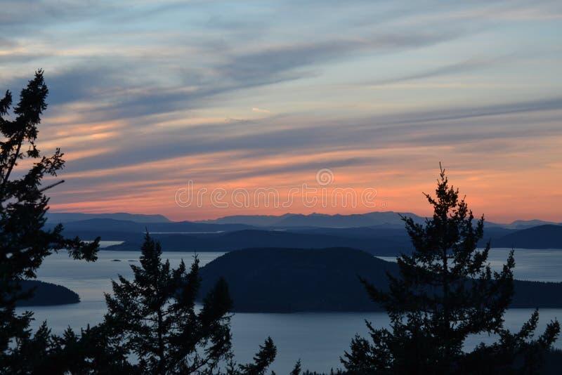 Tramonto sopra Washington occidentale immagine stock