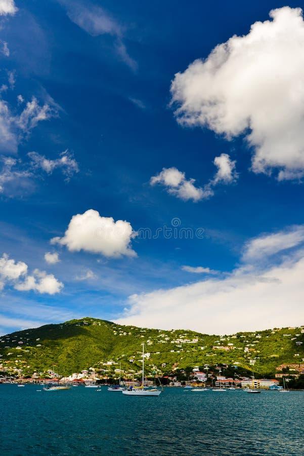 Tramonto a St Thomas immagini stock libere da diritti