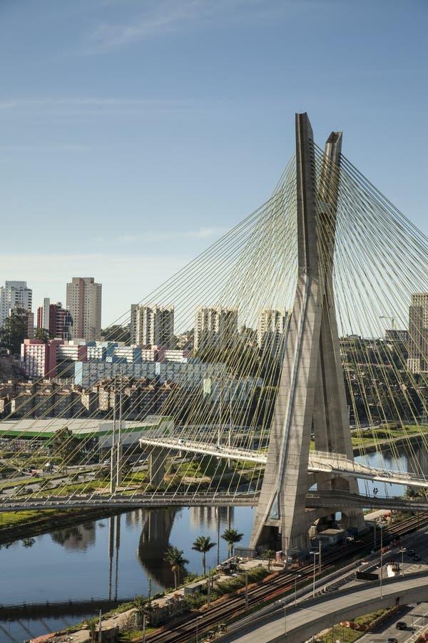 Tramonto su Sao Paulo immagini stock libere da diritti