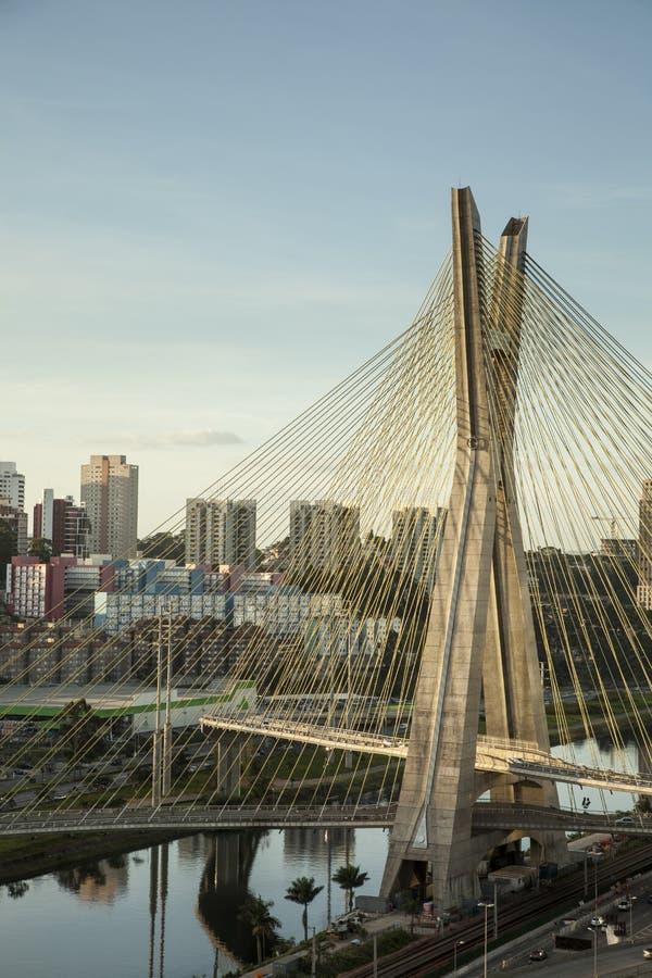 Tramonto su Sao Paulo immagine stock libera da diritti