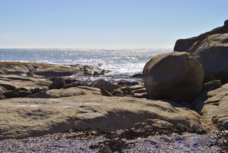 Tramonto su Westcoast Sudafrica fotografia stock