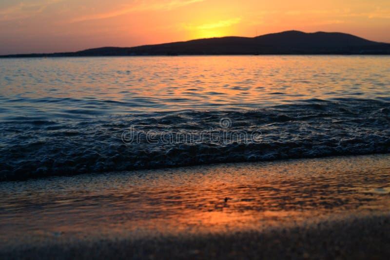 Tramonto sul Mar Nero immagini stock libere da diritti