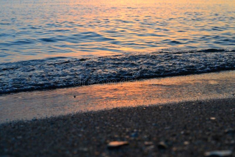 Tramonto sul Mar Nero fotografia stock