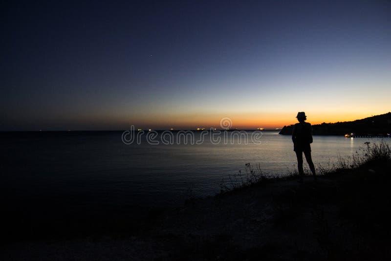 Tramonto sul Mar Nero fotografia stock libera da diritti