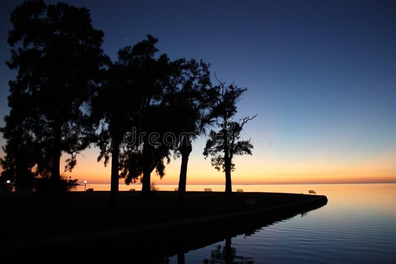 Tramonto in Tarpon Springs (FL) immagine stock