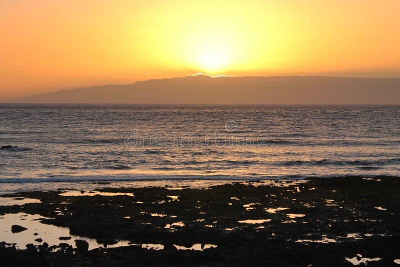 Tramonto in Tenerife fotografia stock libera da diritti