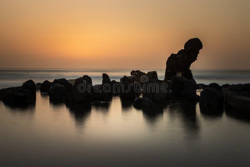 Tramonto Tenerife fotografia stock libera da diritti
