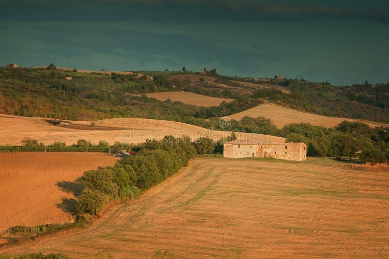 Tramonto in Toscana Italia fotografia stock libera da diritti