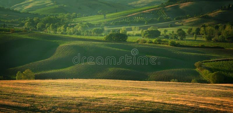 Tramonto in Toscana Italia immagini stock