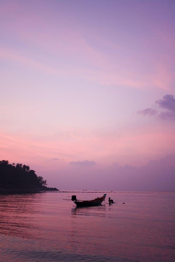 Tramonto tropicale Tailandia fotografia stock libera da diritti