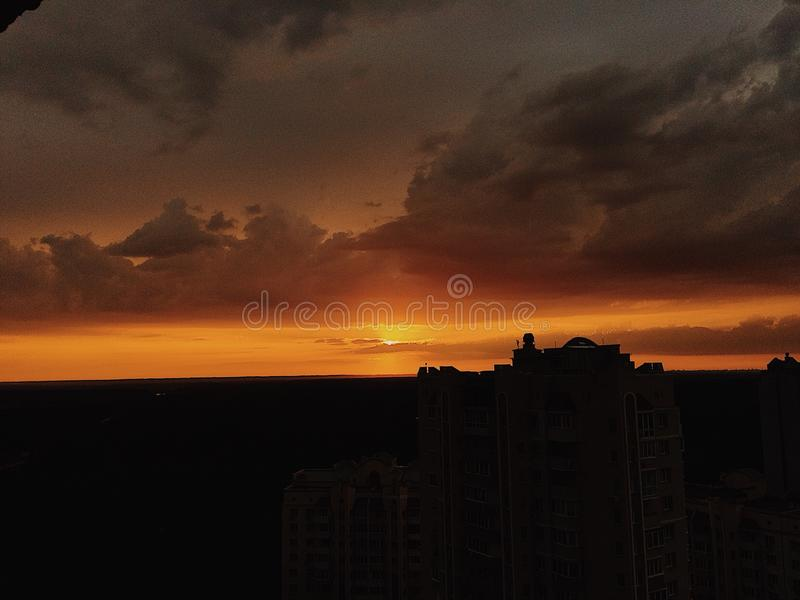 Tramonto in Ucraina fotografia stock libera da diritti