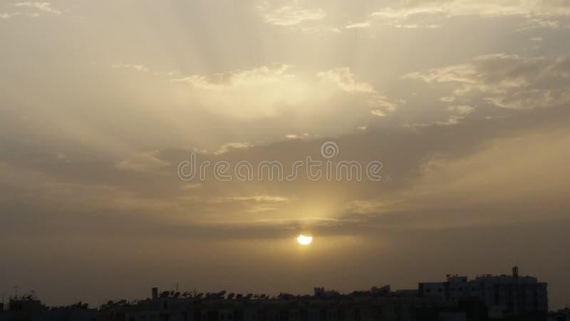 tramonto urbano fotografie stock